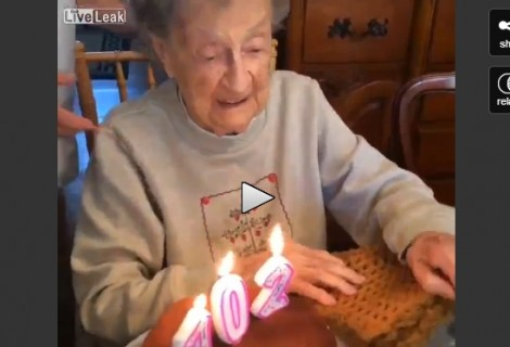 The Little Old Lady & The Birthday Party Blooper